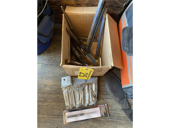 ASSORTED PUNCHES, CHISELS, MISC.