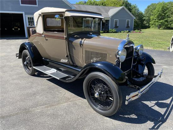 1929 FORD MODEL A SPORTS COUPE, 9,996 MILES SINCE RESTORATION, VIN: A2421473