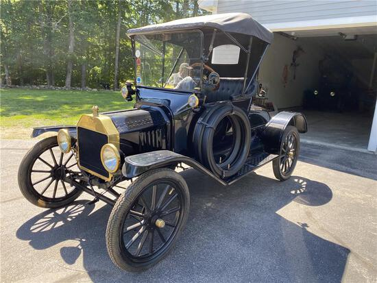 1915 FORD MODEL T, RARE BRASS-ERA T RUNABOUT, 9,087 MILES, VIN: 959386