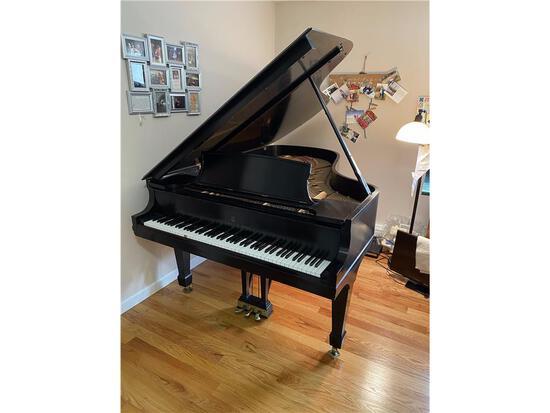 STEINWAY & SONS, N.Y.,  SEMI-CONCERT GRAND PIANO, EBONY, MODEL B, BUILT IN 1984 S/N: 492689