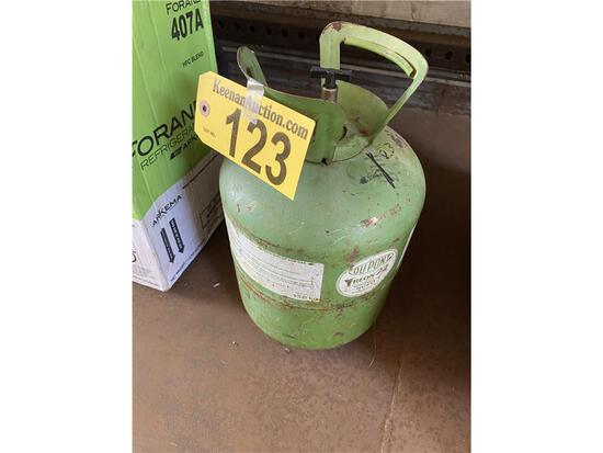 (1) APPROX. 20LB +/- CYLINDER OF DUPONT FREON