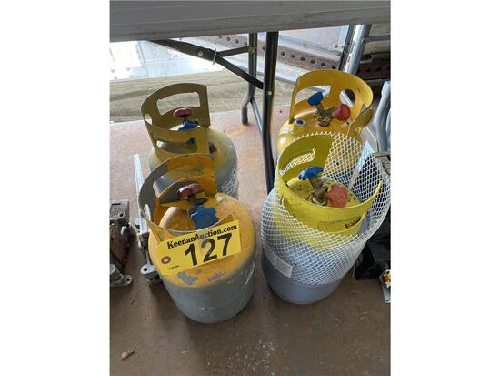 (4) CYLINDERS OF R-22 FREON, APPROX. 25-30LB EACH