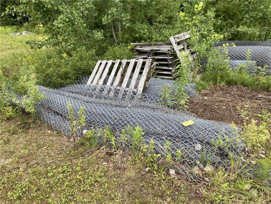 15-ASSORTED ROLLS OF CHAIN LINK FENCE; 4'-12' LENGTHS
