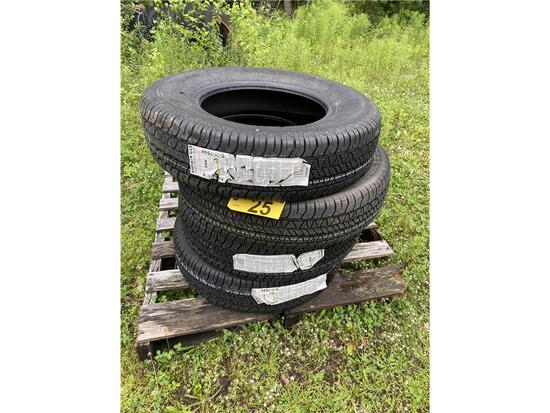(4) NEW GENERAL AMERICAN G45 P205/75R15 TIRES