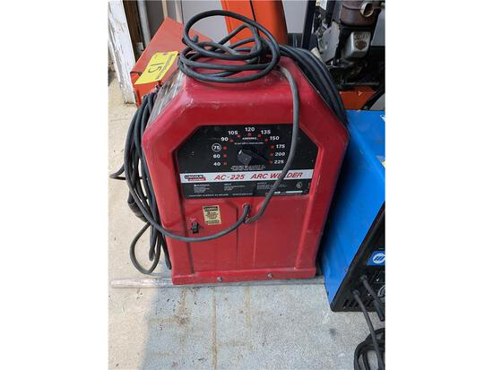 LINCOLN ELECTRIC AC-225 ARC WELDER, 225 AMP, CODE: 9422-210