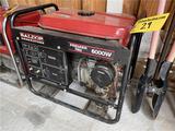 BALDOR PREMIUM R60 GAS GENERATOR, 6000W, 134 HOURS, S/N: P0404120014