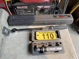 LOT: NUT DRIVER & HUSKY PRO TORQUE WRENCH