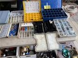 ASSORTED AUTOMOTIVE: ELECTRICAL FUSES, LIGHT BULBS, HOSE CLAMPS, WIRE NUTS, BOLTS, NUTS