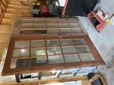 FRENCH GLASS DOORS: ANTIQUE, SET OF 2