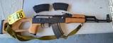 ROMANIAN GP/WASR-10/63 AK-47 W/3-CLIPS, CAL. 7.62X39MM, 1982, C.N. ROMARM S.A./CUGIR, S/N: AD1794