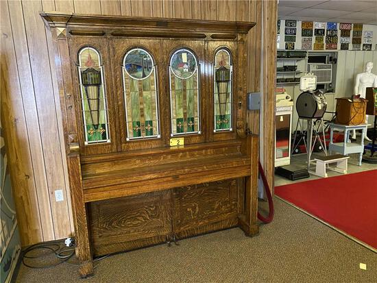 WATCH VIDEO - 1909 J.P. SEEBURG PIANO COMPANY NICKELODEON COIN-OPERATED STYLE G ORCHESTRION