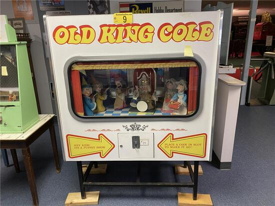 WATCH VIDEO - OLD KING COLE MUSIC MACHINE, CIRCA 1960s W/8-TRACK PLAYER