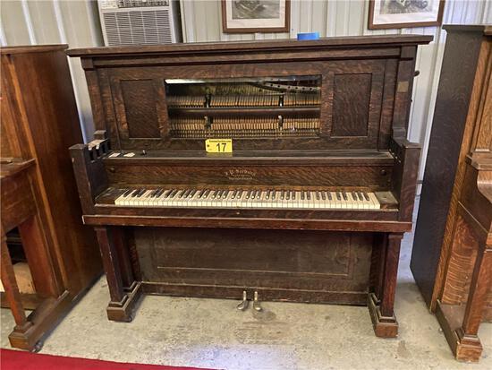 J.P. SEEBURG PIANO COMPANY UPRIGHT GRAND PLAYER PIANO, S/N: 21159