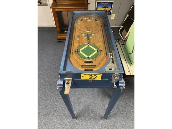 "1934 ROCK-OLA ""WORLD SERIES"" PINBALL GAME"