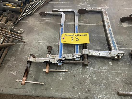 """(3) BESSEY CLAMPS, 12"""" & 10"""""""