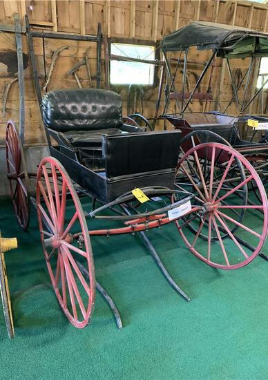 1800s BUGGY MADE BY THE VIGUE HARNESS COMPANY, WATERVILLE MAINE