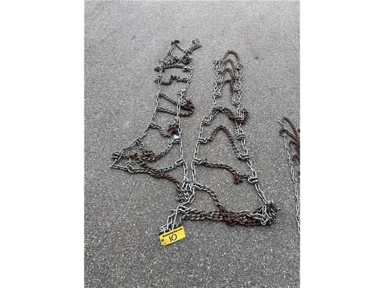 TRACTOR TIRES CHAINS, REAR