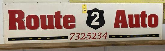 ROUTE 2 AUTO WOODEN SIGN, 8' X 2'