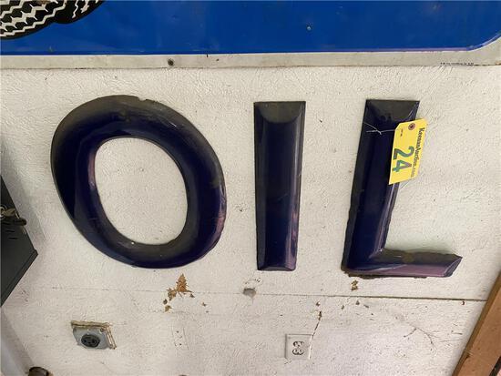 """OIL"" METAL LETTERS, 36"" X 20"""