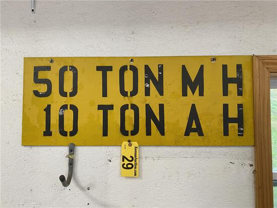 """WOODEN ROAD SIGN, 36"""" X 14"""""""