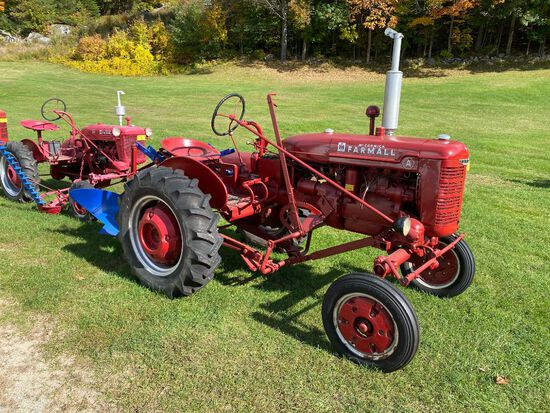 1941 FARMALL MODEL A WIDE FRONT END, S/N: FAA78694, PLOW, WHEEL WEIGHTS FRONT & REAR TIRES, PTO