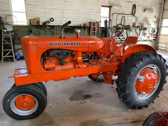 1951 ALLIS-CHALMERS WD 28HP TRACTOR S/N: WD73874, PTO, TOOL BAR, CURRENTLY NOT RUNNING