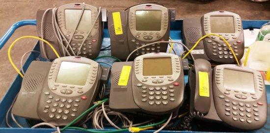 LOT OF 60 AVAYA PHONES