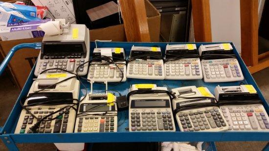 10 ELECTRIC PRINTING CALCULATORS