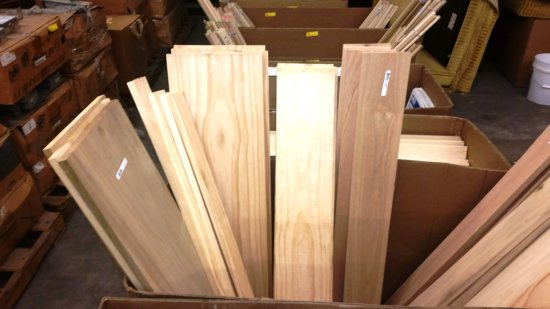 LOT OF 42 NEW SOLID WOOD BOARDS - POPLAR, RED OAK AND MORE