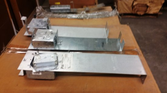 PALLET OF METAL WIRING BOXES BY PW WIRING SYSTEMS