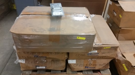 PALLET OF METAL WIRING BOXES BY PW WIRING SYSTEMS - APPROX. 100