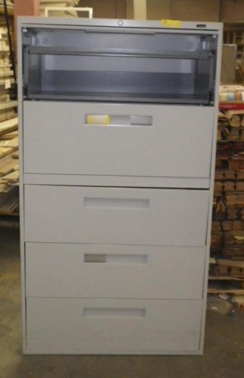 GLOBAL PALE GRAY 5 DOOR / DRAWER LATERAL FILE