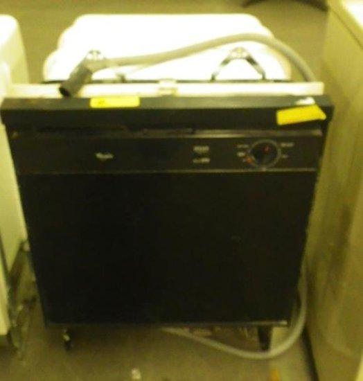 WHIRLPOOL BLACK FRONT DISHWASHER MODEL: DU8000X