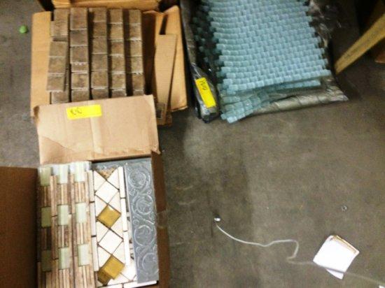 3 BOXES MIXED GLASS & CERAMIC MOSAIC / BACKSPLASH TILE