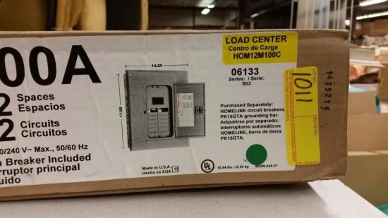 NEW SQUARE D 06133 CIRCUIT BREAKER LOAD CENTER IN THE BOX