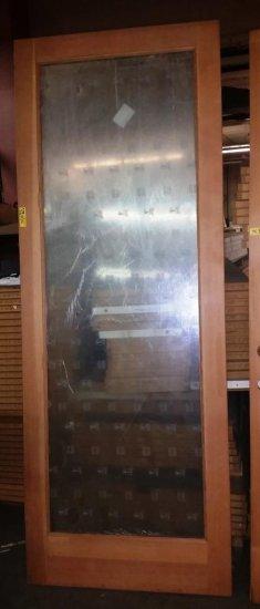 NEW ROGUE VALLEY WOOD DOOR WITH LITE WATCHMAN GLASS INSERT