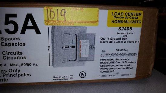 NEW SQUARE D 82405 CIRCUIT BREAKER LOAD CENTER IN THE BOX