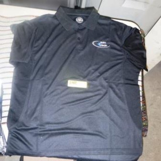 LOT OF 147 NEW MEN'S POLO SHIRTS IN BLACK SMALL AND MEDIUM