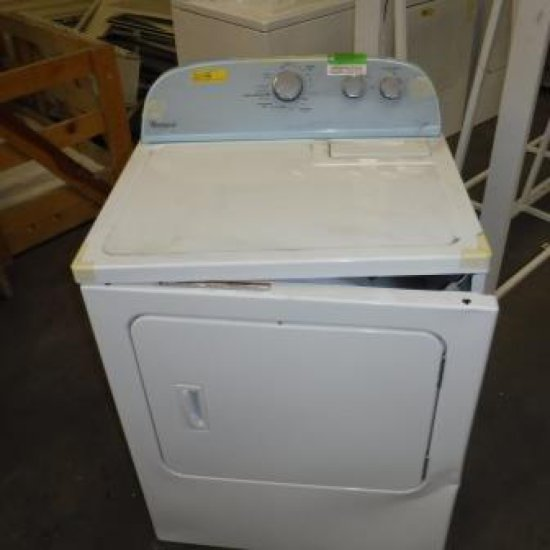 NEW, DAMAGED IN SHIPPING WHIRLPOOL WHITE DRYER