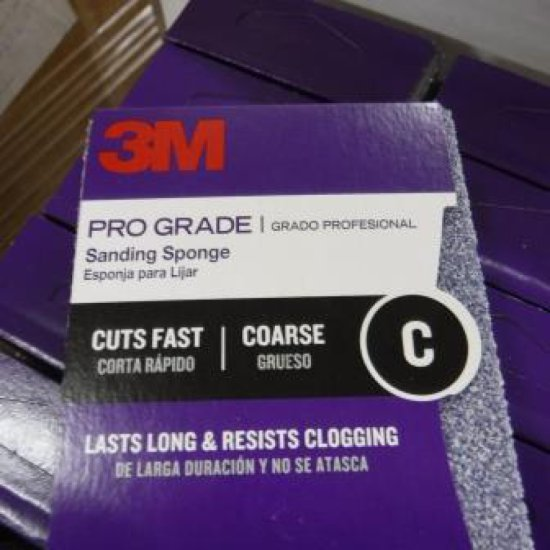 LOT OF 14 NEW BOXES OF 12 EACH 3M PRO GRADE SANDING SPONGES