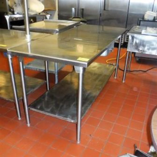 STAINLESS STEEL PREP TABLE WITH DRAWER
