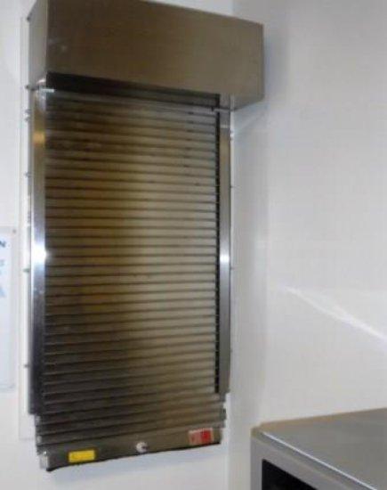 METAL ROLL DOWN DOOR FOR DISH WINDOW
