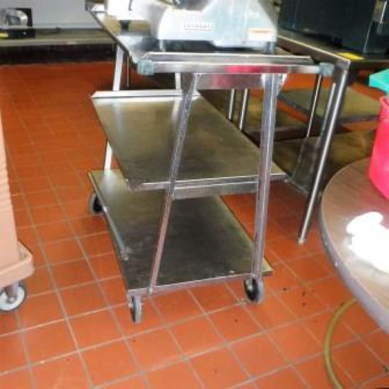 STAINLESS STEEL ROLLING CART FROM A-LINE CARTS
