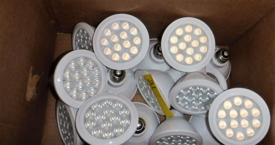 LOT OF 16 GE WHITE FLOODLIGHT BULBS