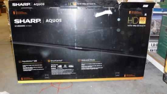 "SHARP AQUOS 65"" TV FOR PARTS OR REPAIR"