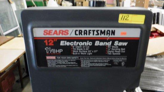"SEARS / CRAFTSMAN 12"" ELECTRONIC BAND SAW"