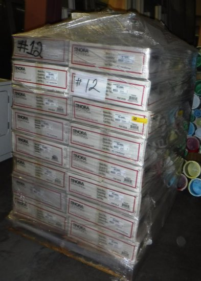 PALLET OF 32 BOXES OF NORA RECESSED LIGHTING FIXTURES