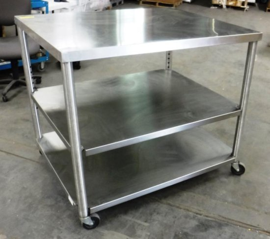 ROLLING STAINLESS STEEL CART / TABLE