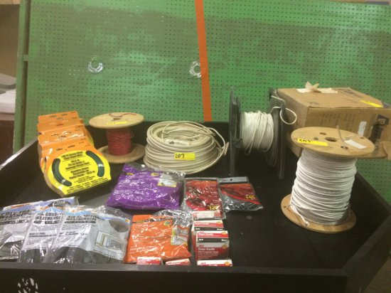ROLLS OF WIRING, INSULATION AND SEALANTS