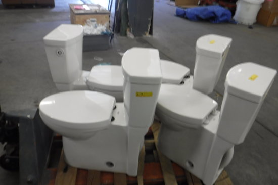 LOT OF 4 AMERICAN STANDARD MOTION-ACTIVATED TOILETS